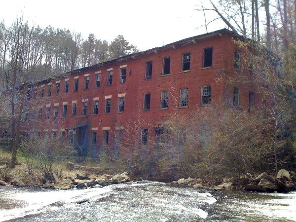 Old mill along hiking trail